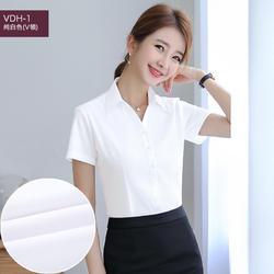 VDH-1 女士短袖职业衬衫工作服工装正装白衬衫